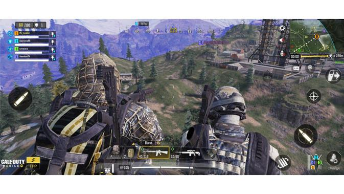 Main Call of Duty: Mobile di Realme X50 Pro. (Liputan6.com/ Yuslianson)