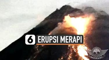 Gunung Merapi masih menunjukan aktivitas vulkaniknya. Minggu (7/3) malam lava pijar meluncur bertubi-tubi dari dua titik Gunung Merapi.