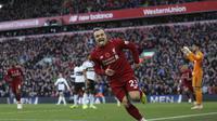 Selebrasi Xherdan Shaqiri saat Liverpool kalahkan Fulham di Liga Inggris (AP)