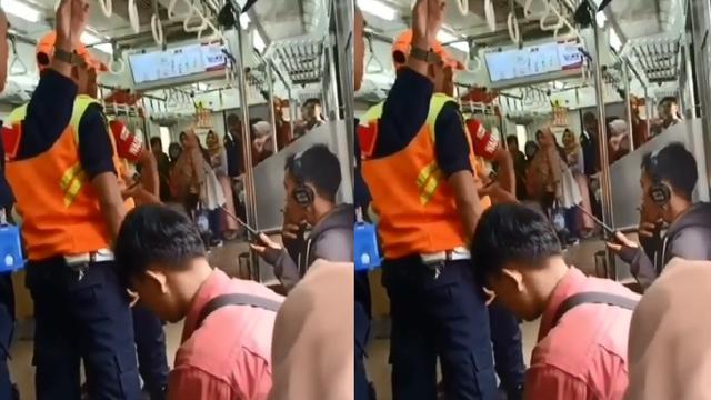 Hasil gambar untuk Viral, Video Penumpang Cuek Saat Ditegur karena Merokok di Dalam KRL