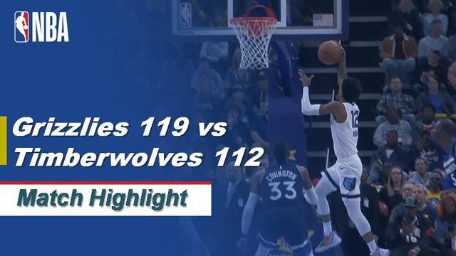 Berita Video Highlights NBA 2019-2020, Memphis Grizzlies Vs Minnesota Timberwolves 119-112