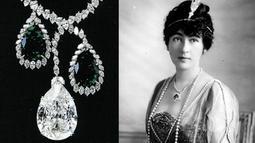 Evelyn Walsh Mclean mendapatkan 'Star of the East' yaitu sebuah kalung bertahtakan berlian 95 karat senilai Rp. 1,3  Milyar dari sang ayah Thomas Walsh yang merupakan pengusaha tambang tahun 1900-an (Istimewa)