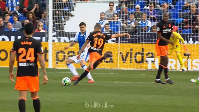 Valencia mencatat kemenangan 1-0 atas tuan rumah Leganes di menit akhir pertandingan berkat gol kemenangan satu-satunya yang dicip...
