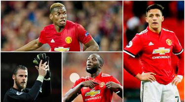Berikut ini 7 pemain Manchester United yang mempunyai gaji tertinggi. Alexis Sanchez teratas disusul Paul Pogba di urutan kedua. (Foto - foto Kolase AP, EPA, AFP)