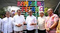 Menaker Hanif resmikan Kampoeng Pelangi Sadar Jaminan Sosial.