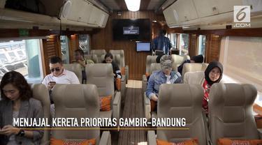 Kereta api kelas prioritas Gambir-Bandung sudah bisa digunakan.