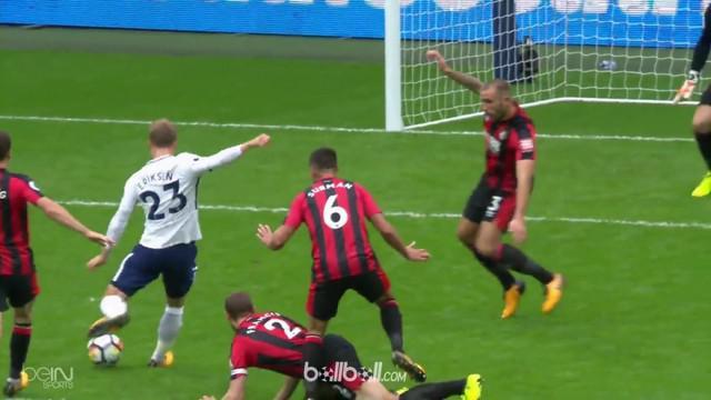 Berita video highlights Premier League 2017-2018, Tottenham Hotspur vs Bournemouth dengan skor 1-0. This video presented by BallBall.