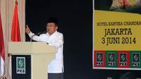 Dihadapan sejumlah alim ulama PKB dan NU se-Indonesia Jusuf Kalla memaparkan visi dan misi serta strategi pemenangan pada pilpres mendatang (3/6/14) (Liputan6.com/Herman Zakharia)