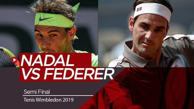 Berita Video Berita Video Roger Federer Hadapi Rafael Nadal di Semifinal Tenis Wimbledon 2019