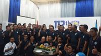 Ikatan Motor Indonesia (IMI) menggelar perayaan ulang tahun ke-112 di kantor baru di wilayah Manggarai. (Bola.com/Andhika Putra)