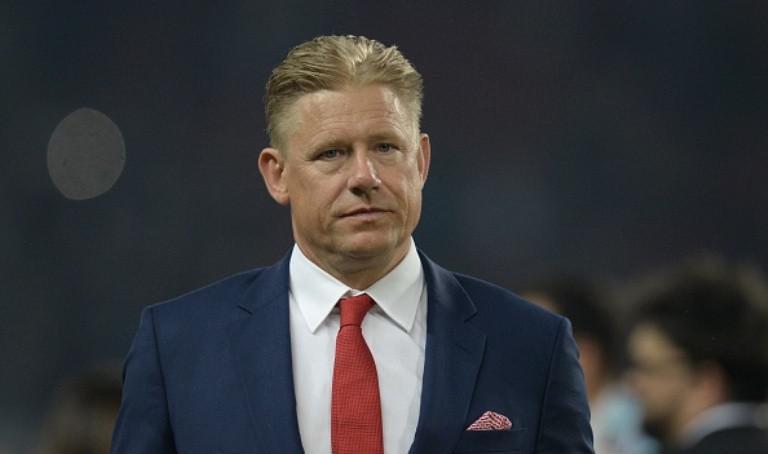 Legenda sepak bola Denmark, Peter Schmeichel. (AFP/Oli Scarff)