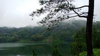 Keindahan Danau Linow. Foto diambil dengan ponsel #OPPOSelfieTourWithF5 di #TourdeManado.