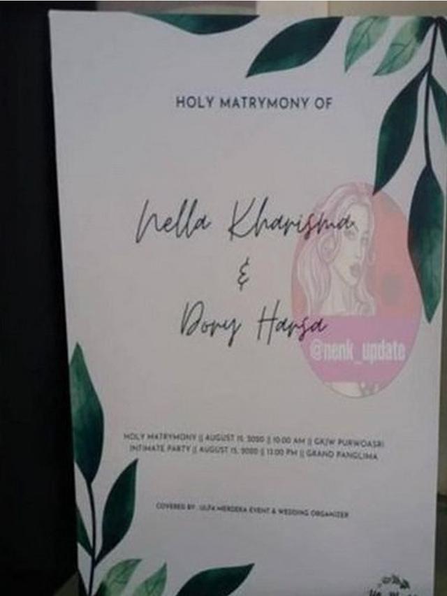 Beredar Undangan Pemberkatan Pernikahan Nella Kharisma - ShowBiz  Liputan6.com