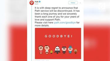 Sebagian warganet yang merasa kehilangan dengan tutupnya Path meluapkan kesedihannya dengan membuat tagar berikut ini.