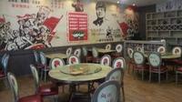 Restoran bertema komunis di Penang, Malaysia, yang bikin heboh. (dok. Facebook/ Izackkrie)