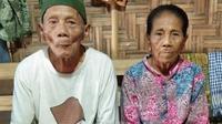 Mbah Kiman dan Mbah Sutinah, menikah di usia senja tak menghalangi kebahagiaan mereka. (foto: Liputan6.com / istimewa / edhie prayitno ige)