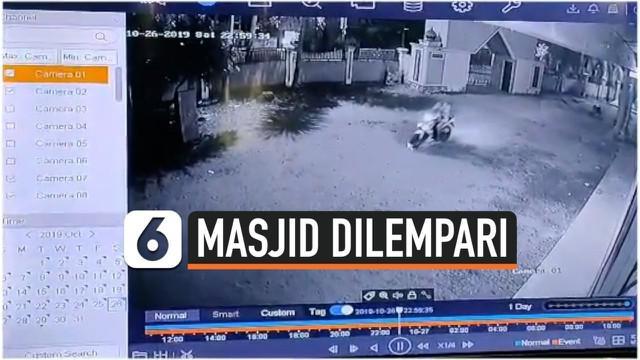 Warga dihebohkan dengan insiden pelemparan kotoran manusia di dalam Masjid Jami' Gandus, Palembang, pada Sabtu,(28/10/2019).