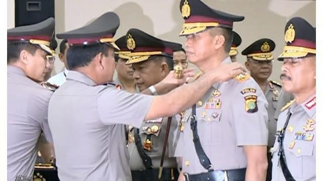 Irjen Pol Moechgiyarto  memberikan keterangan mengenai langkah yang akan diambil sebagai prioritas kerja dalam mengemban tugas sebagai  Kapolda Metro Jaya yang baru, Menggantikan Irjen Pol Tito Karnavian