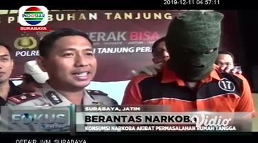 Seorang pria yang berprofesi sebagai Disc Jockey, atau DJ di Surabaya dibekuk aparat Kepolisian Polres Tanjung Perak Surabaya, karena kecanduan narkoba. Kepada polisi, pelaku mengaku selalu menghisap ganja, sabu dan ekstasi setiap kali tampil.
