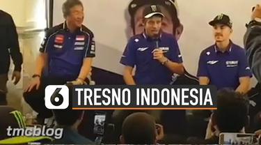 Valentino Rossi didapuk pembawa acara untuk menyapa fans dengan menggunakan bahasa Jawa.