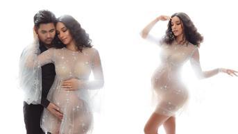 6 Gaya Maternity Shoot Vanessa Lima dan Erick Iskandar, Bernuansa Monokrom