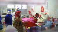 Bupati Bogor Ade Yasin mengajak para penyintas Covid-19 mendonorkan plasma konvalesen. (Liputan6.com/Achmad Sudarno)