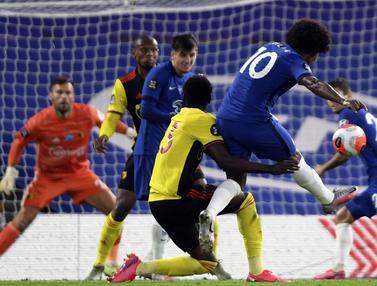 FOTO: Cukur Watford 3-0, Chelsea Kembali Geser MU