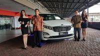 KIA Grand Sedona Diesel resmi meluncur di Indonesia.(Herdi Muhardi)