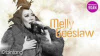 Melly Goeslaw, penyanyi sekaligus penulis lagu andal yang telah mencetak banyak hits. (Foto: Nurwahyunan/Bintang.com, Desain: Nurman Abdul Hakim/Bintang.com)