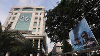 Poster berukuran 4x4 meter itu dipasang di pintu masuk kantor KKP dan depan Gedung Mina Bahari 2 dan 3, Jakarta. Foto diambil pada Kamis (11/12/2014). (Liputan6.com/Miftahul Hayat)