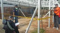 Puslabfor Polri dibantu Satreskrim Polres Bogor menggelar olah TKP di Pabrik kemasan telur beberapa waktu lalu. (Liputan6.com/Achmad Sudarno)