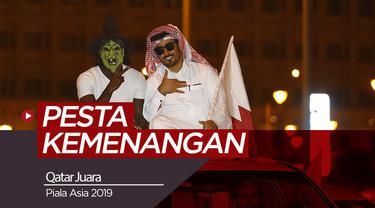 Berita video rakyat Qatar merayakan keberhasilan meraih juara Piala Asia 2019.