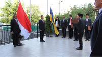Dubes Yuddy Chrisnandi pimpin upacara kelahiran Pancasila (Foto:KBRI Kiev)