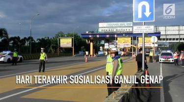 Masa sosialisasi ganjil genap di tol Cikampek akan berakhir hari ini (26/3). Mulai besok sanksi akan diberikan petugas kepada pelanggar.