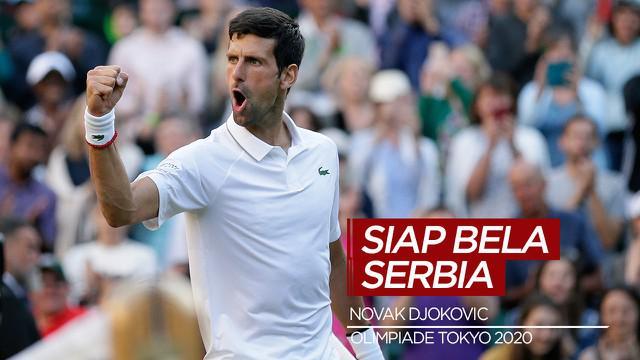 Berita Video Novak Djokovic Siap Bela Serbia di Olimpiade Tokyo 2020