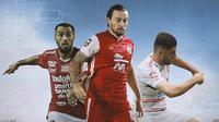 Liga 1 - Brwa Nouri, Marc Klok, Nuriddin Davronov (Bola.com/Adreanus Titus)