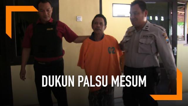 Seorang pria yang mengaku dukun nekat memperkosa seorang siswi SMP hingga hamil.