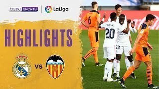 Berita video highlights laga pekan ke-23 Liga Spanyol 2020/2021 antara Real Madrid melawan Valencia yang berakhir dengan skor 2-0, Minggu (14/2/2021) malam hari WIB.