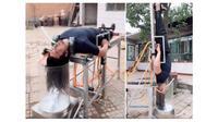 Pria asal Tiongkok ini buat alat keramas otomatis bagi orang malas. (Sumber: World of Buzz)