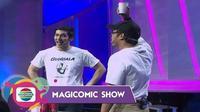 Abimana Arya melakukan sulap di Magicomic Show Indosiar.
