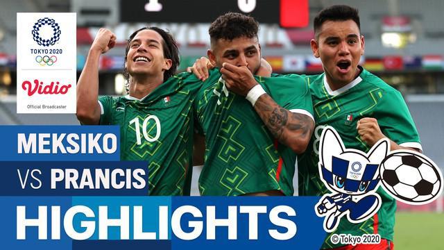 Berita video highlights sepak bola putra Olimpiade Tokyo 2020, Meksiko kalahkan Prancis 4-1, Kamis (22/7/21)