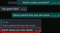5 Chat Drama Tugas Kuliah Ini Bikin Tepuk Jidat (sumber: Instagram.com/receh.id)