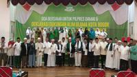 Ribuan pendukung Jokowi di Bogor doakan Piplres berjalan damai. (Liputan6.com/Achmad Sudarno)