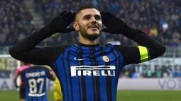 1. Mauro Icardi (Inter Milan) - 16 Gol (4 Penalti). (AFP/Miguel Medina)
