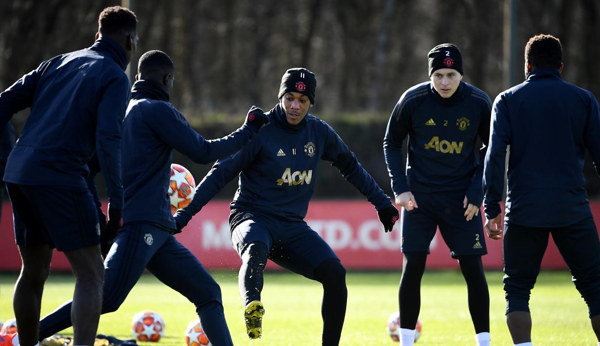 FOTO Mengintip Latihan Manchester United Jelang Jamu PSG