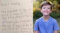 Kirim Lamaran Kerja, Bocah 9 Tahun Dapat Balasan dari Bos NASA (business insider)