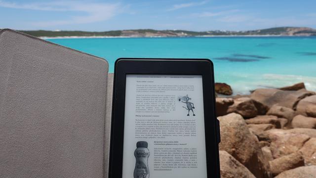 Ilustrasi ebook, pdf di Kindle Reader