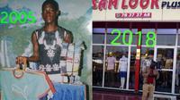(Foto: @4la_suumaker/Twitter) Kisah sukses seorang pemuda asal Nigeria yang berhasil membuat butiknya sendiri.