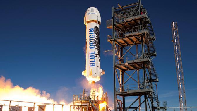 Wisata luar angkasa. Blue Origin/AFP