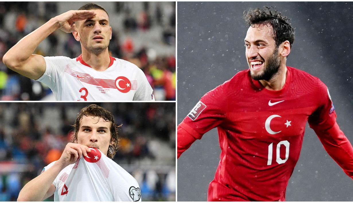 Timnas Turki dengan sederet pemain berkelasnya diprediksi akan menjadi tim kuda hitam dalam Euro 2020. Berikut lima pemain kunci yang bisa diandalkan Senol Gunes di ajang Piala Eropa nanti.